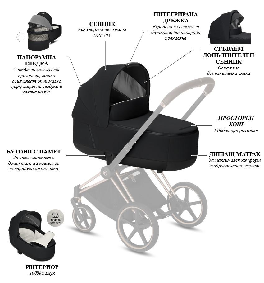 Кош за новородено Priam Lux Carry Cot