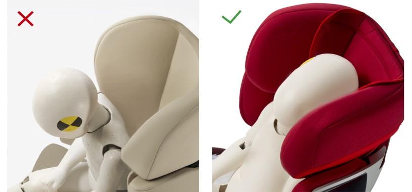 3 степенна позиция на полулегнала облегалка за глава - патентована