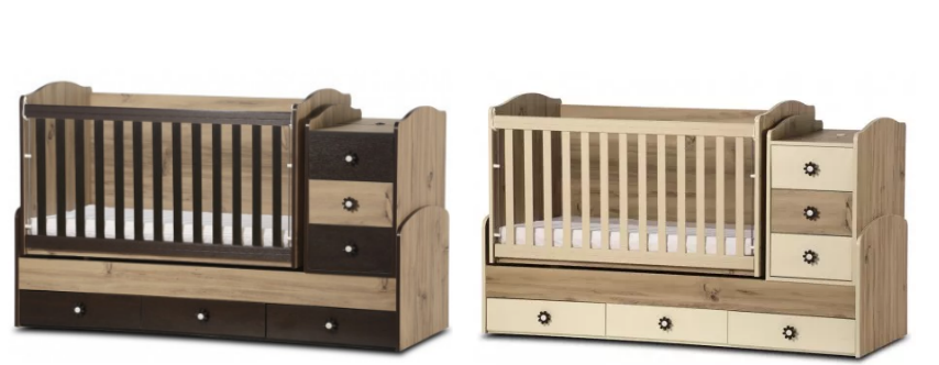 Дървено легло Dizain Baby Деси