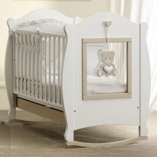 Бебешко дървено легло Baby Italia Oliver Plexy - Raya Toys